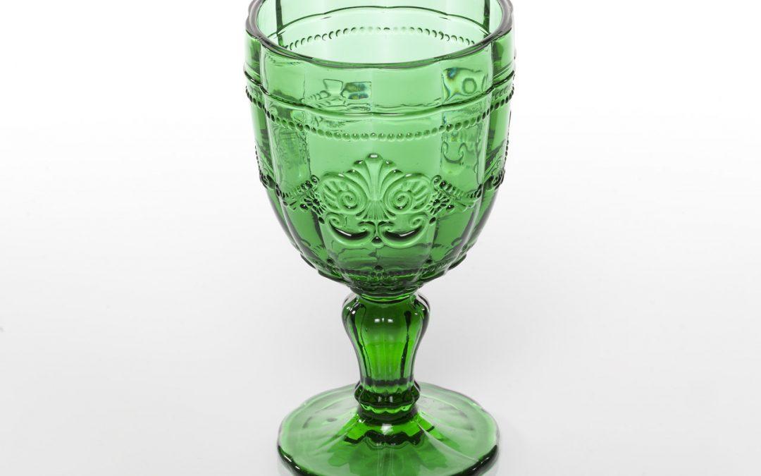 VILLA D'ESTE | Syrah calice in vetro colorato (verde)