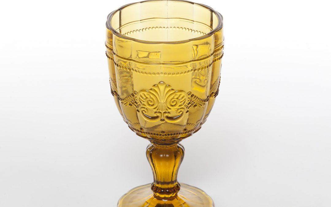 VILLA D'ESTE | Syrah calice in vetro colorato (giallo)