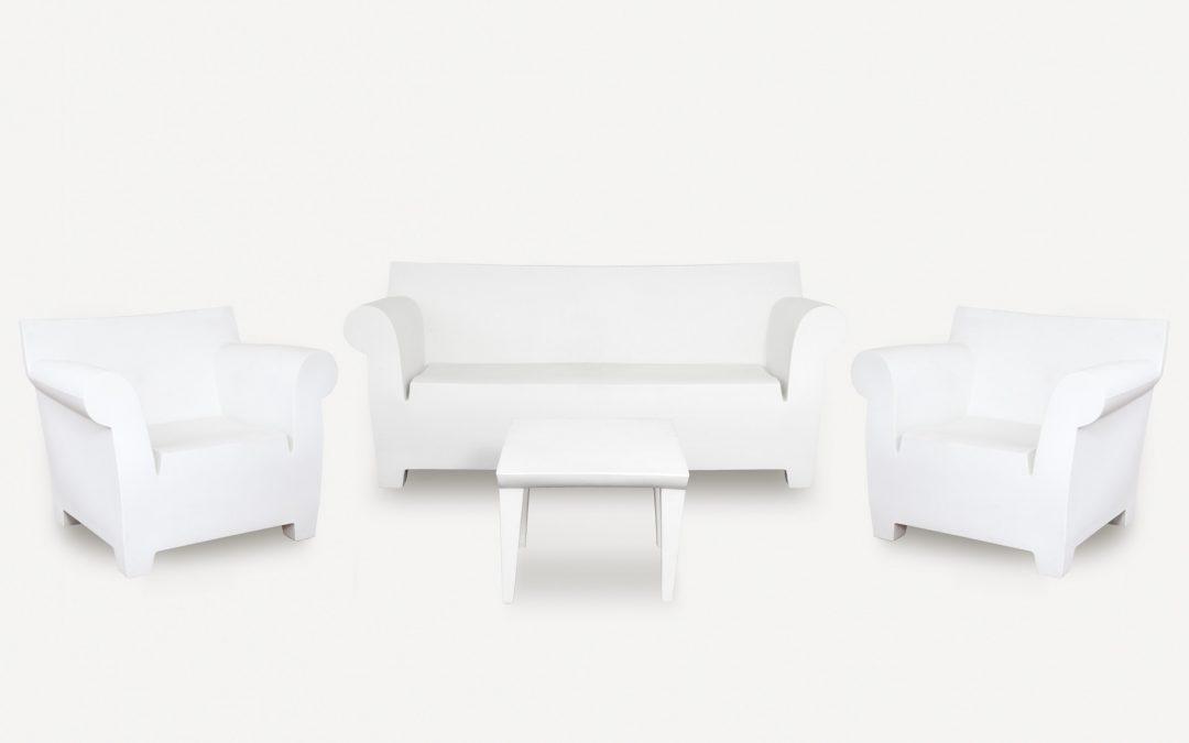 Salotto moderno bianco da giardino