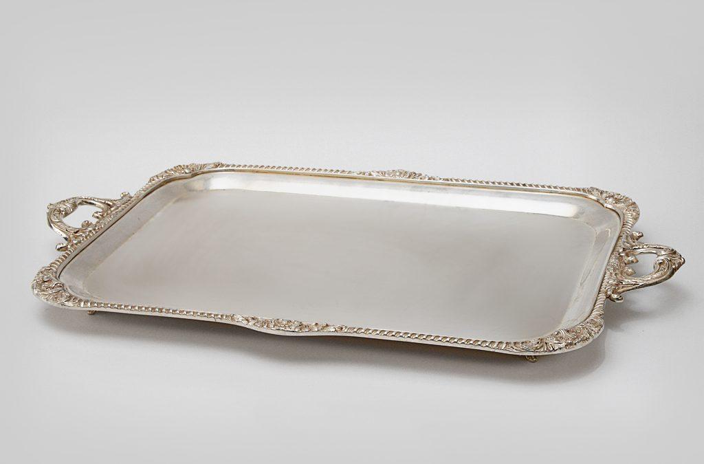 Vassoio rettangolare in argento 2