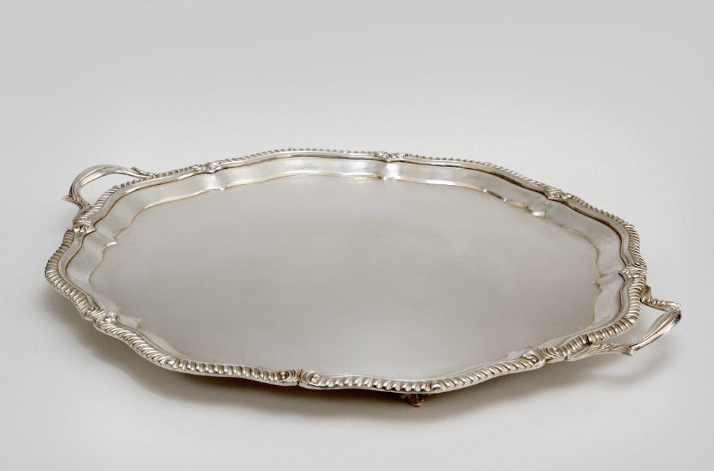 Vassoio tondo in argento