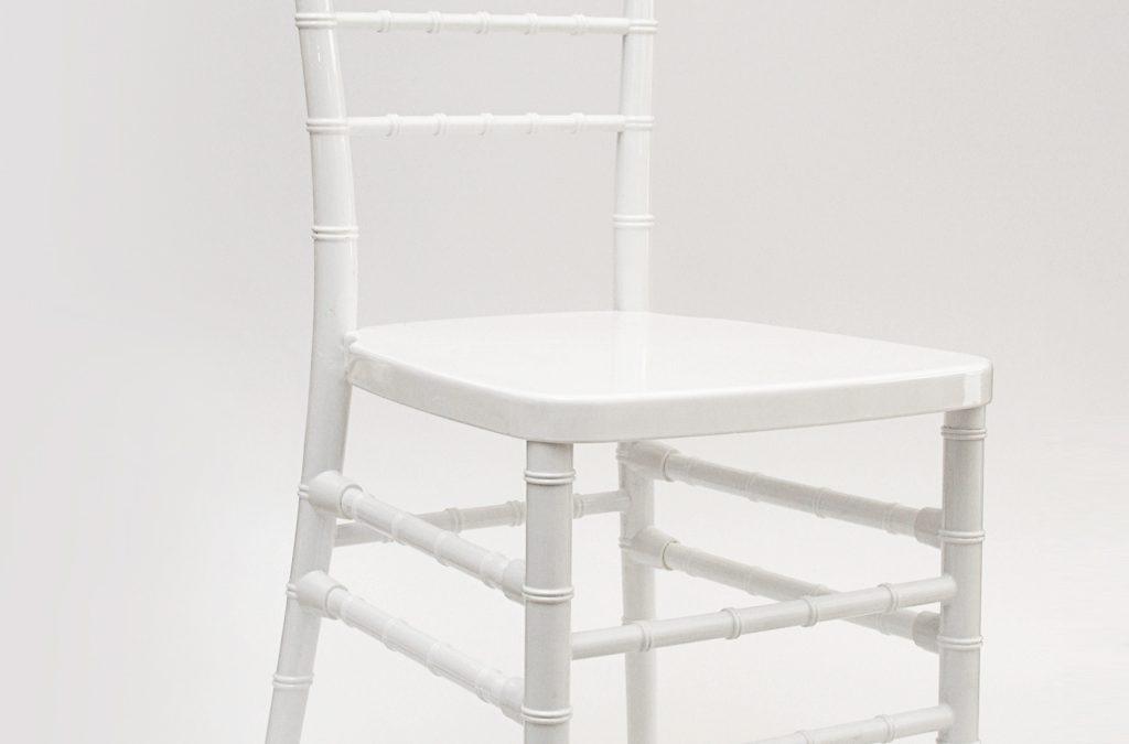 Sedia Chiavarina in propilene bianca