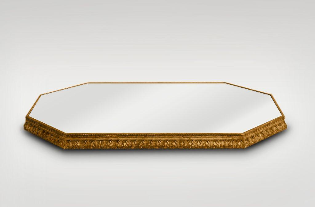 Vassoio specchiato con cornice